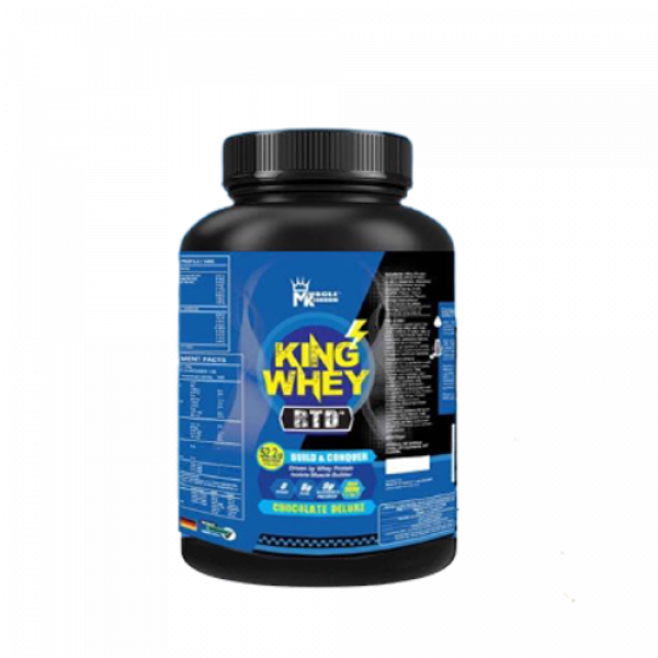 Muscle Kingdom King Whey 900g Whey Protein (Chocolate Deluxe) Fitness Gym Supplement