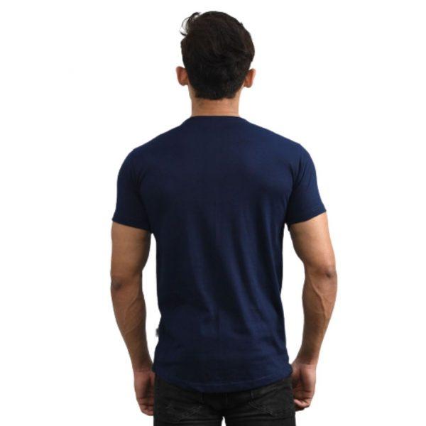 Resurrection Gear Men's Luxury Logo Chest Navy Blue Shirt