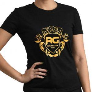 Resurrection Gear Ladies Luxury Print Black Shirt Fitness Gym Apparel