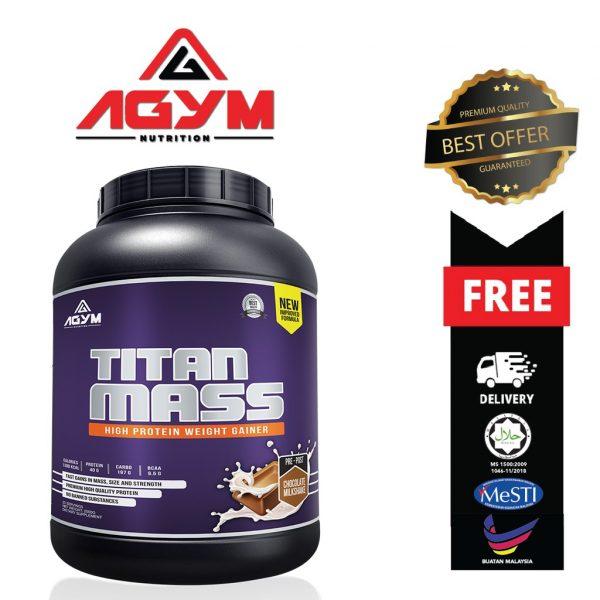 Agym Nutrition Titan Mass 2kg (Chocolate)
