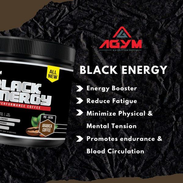 Agym Nutrition Black Energy 400gram, 20 servings (Coffee)