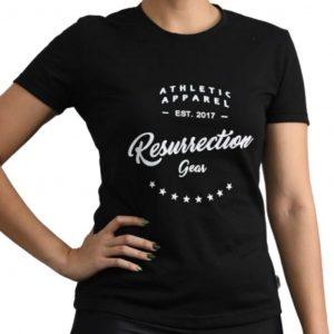 Resurrection Gear Ladies Athletic Apparel Black Shirt Fitness Gym Apparel