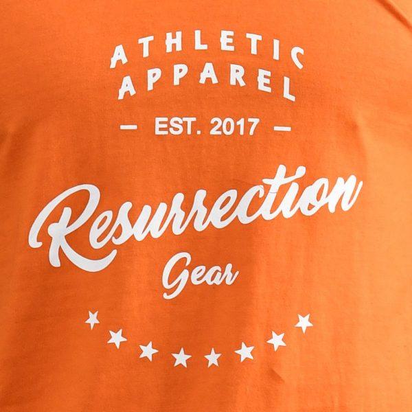 Resurrection Gear Athletic Apparel Orange Tank Top