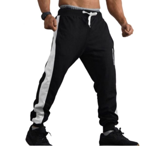 Resurrection Gear Men's Black White Line Jogger Pants