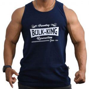 Resurrection Gear Bulk-King Navy Blue Tank Top Fitness Gym Apparel