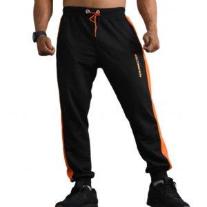 Resurrection Gear Men's Black Orange Line Jogger Pants Fitness Gym Apparel