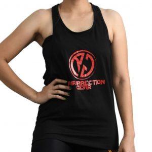 Resurrection Gear Ladies Black Tank Top Fitness Gym Apparel