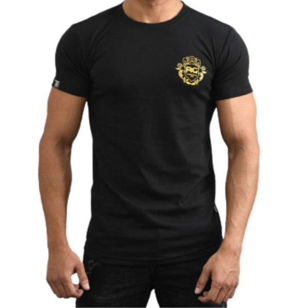 Resurrection Gear Men's Luxury Logo Chest Black Shirt