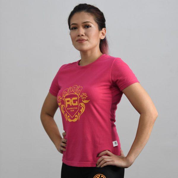 Resurrection Gear Ladies Luxury Print Pink Shirt
