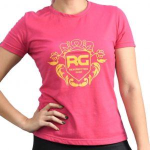 Resurrection Gear Ladies Luxury Print Pink Shirt Fitness Gym Apparel