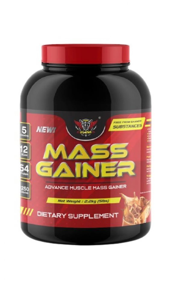 Power Mania Mass Gainer 2.2 kg (Double Chocolate) Mass Protein Halal Fitness Gym Supplement