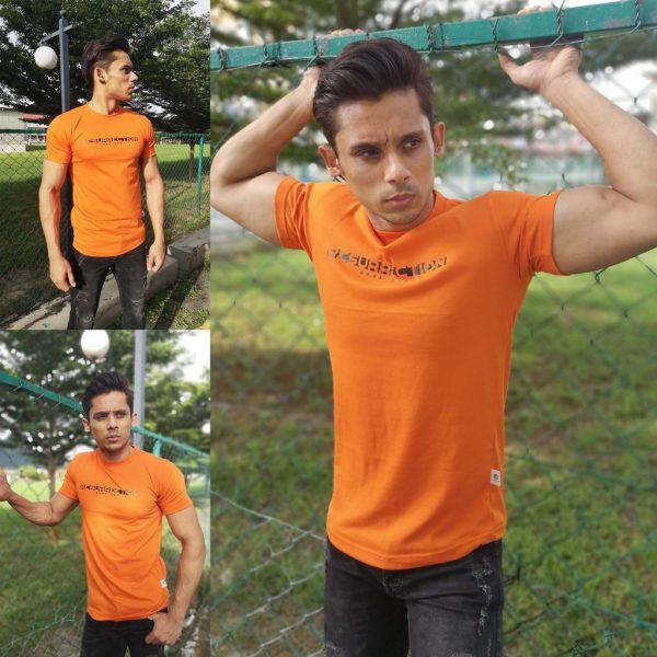 Resurrection Gear Men's RG Logo Centre Orange Shirt