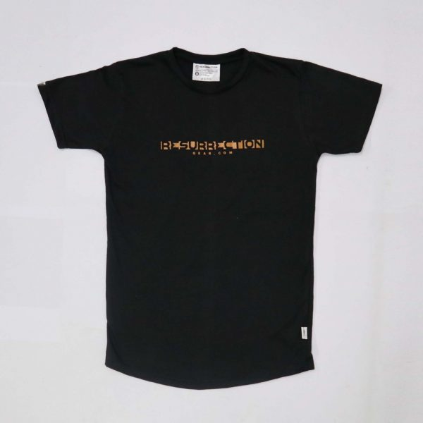 Resurrection Gear Men's RG Logo Centre Black Shirt