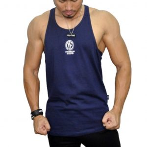 Resurrection Gear Men's Navy Blue Classic Tank Top Fitness Gym Apparel