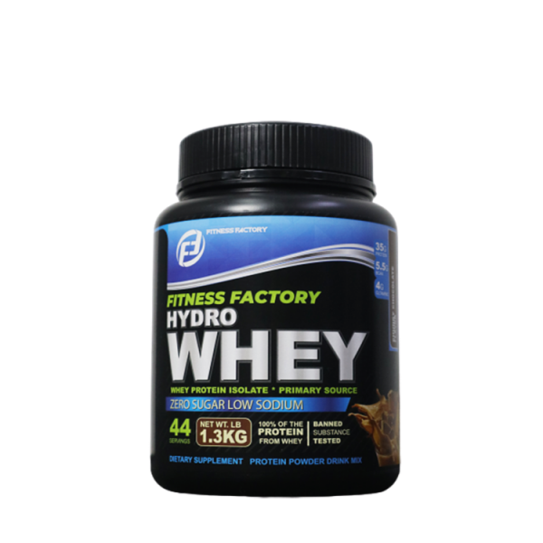 Fitness Factory Hydrowhey 1.3kg, (44 servings) - Whey Protein Isolate (Halal certified)