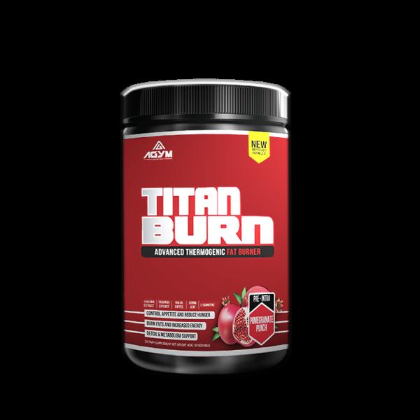 Agym Nutrition Titan Burn 200gram, 20 servings, (Pomegranate) - Fat Burner Powder (Halal certified, KKM approved, Fitness Gym Supplement)