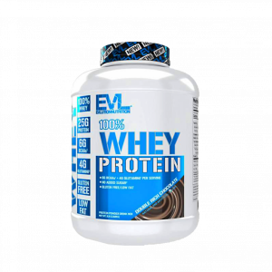 Evlution Nutrition 100% Whey Protein 2.2Kg, 58 Servings - Whey Protein + Lean Muscle (Halal certified) Fitness Gym Supplement