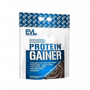 Evlution Nutrition Stacked Protein Gainer 5.4Kg, 17Servings - Mass Gainer, Mass Protein Bulking (Halal certified) Fitness Gym Supplement
