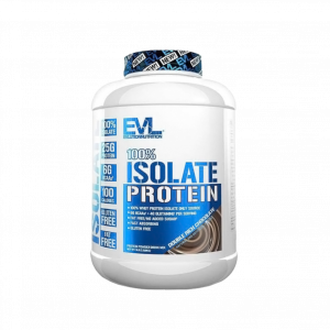 Evlution Nutrition 100% Isolate Protein 2.2Kg, 72 Servings - Whey Protein + Lean Muscle (Halal certified) Fitness Gym Supplement