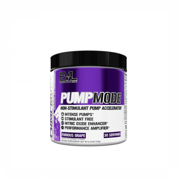 Evlution Nutrition Pump Mode Pre-Workout 183g, 30 Servings - Pre workout, Energy Booster (Halal certified) Fitness Gym Supplement