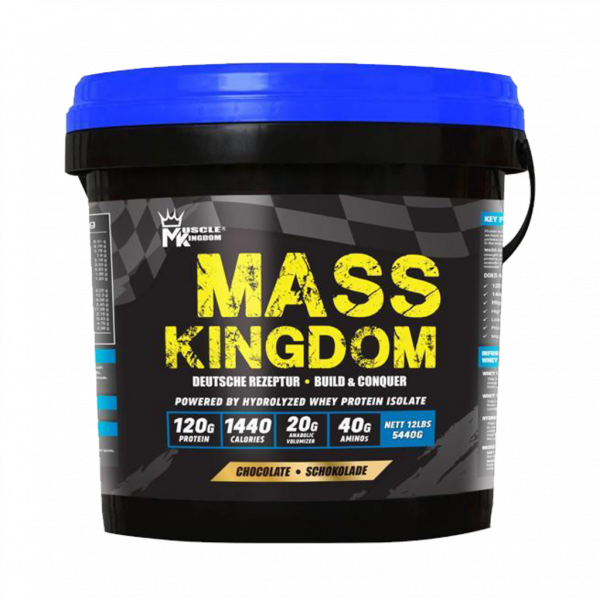 Mass Kingdom (12lbs) 5.4kg Mass Gainer - Mass Gainer, Weight Gainer, Sizing, Halal Protein German Imported Fitness Gym Supplement