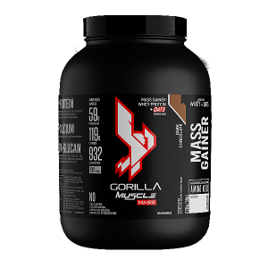 GORILLA Muscle Mass Gainer 1kg (2.2lbs) – 2.27kg (5lbs) (Halal Certified) - Mass Protein, Fitness gym supplement